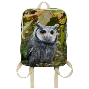Owl and Leaves Backpack created by ErikaKaisersot | Print All Over Me