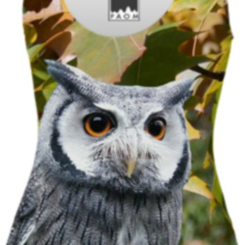 Owls and Leaves One Piece Swimsuit created by ErikaKaisersot | Print All Over Me