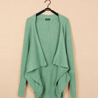 Green Bat Sleeve Cashmere Sweater$39.00