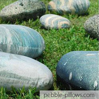 Funny River Rocks Living Stone Pillows