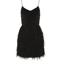 Harrods of London Sequin and Feather Dress