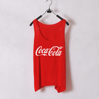 Coca Cola- Women Tank Top - Orange - Sides Straight