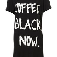 Black Coffee Oversized Night Tee - Sleepwear