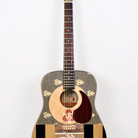 Acoustic Guitar, Modified &quot;Saturn Calling&quot; Altered, Playable Art Instrument