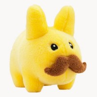 "Yellow 'Stache Labbit ~7"" Plush"