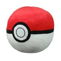 Pokemon: Large 14-inch Pokeball Plush Pillow