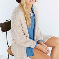 BDG Open-Front Cable Cardigan Sweater-