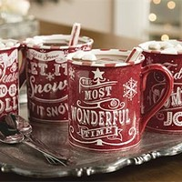 Good Tidings Holiday Mugs Set