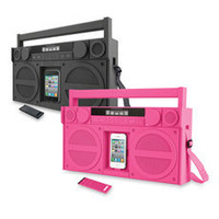 iHome® iP4 Portable FM Stereo Boombox for iPhone/iPod - Bed Bath & Beyond