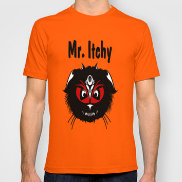 Mr. Itchy T-shirt by Robleedesigns
