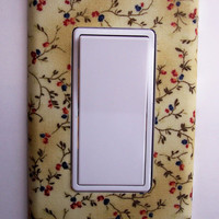 Summer Floral Sprigs Rocker / GFI Switchplate