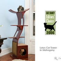 Lotus Cat Tower from The Refined Feline: Modern, Luxury Cat Towers