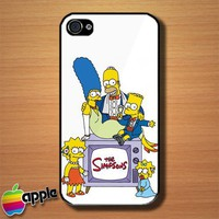 The Simpsons Animated Cartoon Movie Custom iPhone 4 or 4S Case Cover