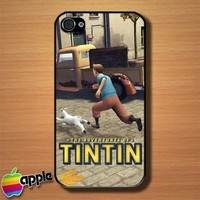 Tintin Run The Adventure Of Tintin Custom iPhone 4 or 4S Case Cover