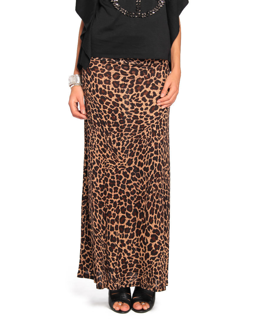 leopard print maxi skirt 2020ave from shop 2020ave