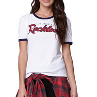 Young & Reckless Reckless Ringer T-Shirt - Womens Tee - White