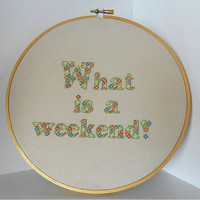 What is a Weekend Downton Abbey Inspired Ready-to-Hang Cross Stitched Wall Art