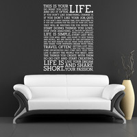 This is your Life Wall Sticker