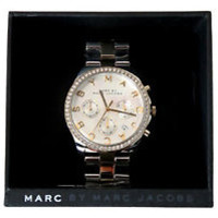 Marc by Marc Jacobs Henry Chrono Silver Dial Women's Watch - MBM3197  *NIB*