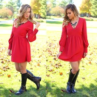 Red-y For The Holidays Dress
