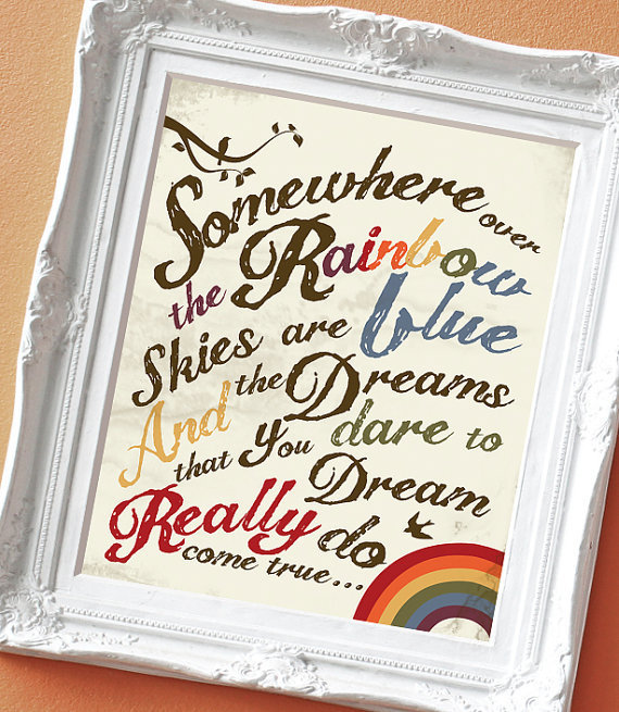 Over the Rainbow - Print for a Kid&#x27;s Room