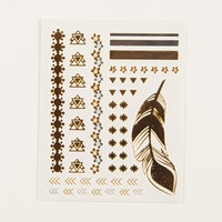 Metallic Hand Tattoos - Native - Silver/Gold / One