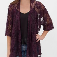 Women's Floral Cardigan in Purple by Daytrip.