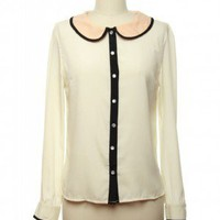 Mod About You Blouse in Ivory