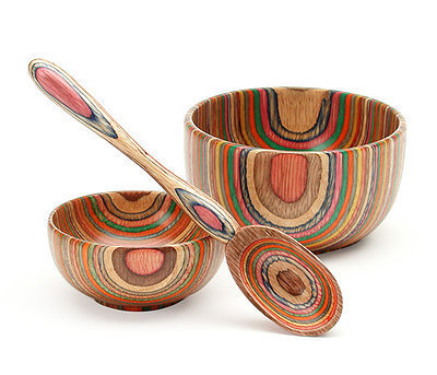 The Rainbow Wood Spoon & Bowls at the Bibelot Shops