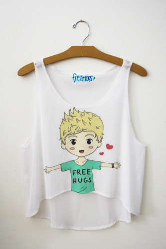 Niall Horan Free Hug Crop Top | fresh-tops.com