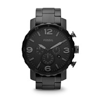 Nate Chronograph Stainless Steel Watch - Black
