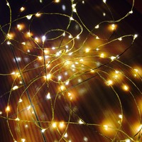 The Original Starry String Lights Warm White Color Led's on a Flexible Copper Wire - 20ft LED String Light with 120 Individually Mounted Led's. Set the Mood You Want Anywhere! - Perfect for Creating Instant Appeal in Any Setting - Parties, Bedrooms, or an