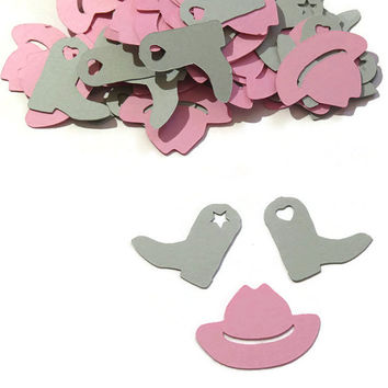Cowgirl Confetti - 100 pcs. #cowgirl, #cowboy, #hats, #boots, #party, #confetti