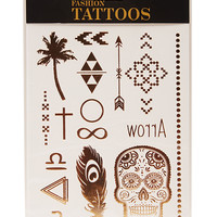 Gold Metallic Temporary Tattoos | Wet Seal