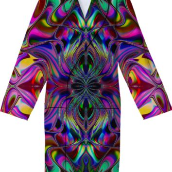 ANIKA Liquid Rainbow Cotton Robe created by Webgrrl | Print All Over Me