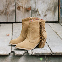 Santa Fe Fringe Boots, Sweet Bohamian Boots &amp; Shoes