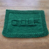 Hand Knit Dark Green Golf Cloth