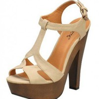 IVORY T-STRAP SANDAL @ KiwiLook fashion