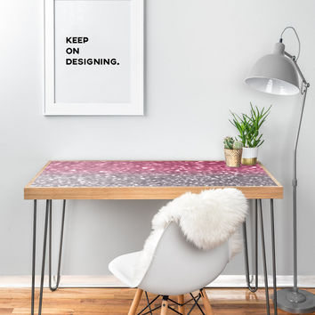 """Lisa Argyropoulos Rose And Gray Desk - 47"""" x 23"""""""