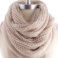 boho infinity scarf , taupe - Default Title / taupe