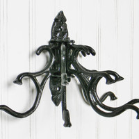 Cast Iron Coat Hook, Custom Color, Cast Iron Wall Hook, Coat Hooks, Hallway Coat Hook, Multiple Coat Hook, Wall Hooks, Decorative Hooks