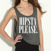 HIPSTA PLEASE Crop Tank Top as seen on Harry Styles from One Direction