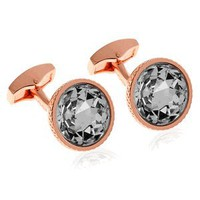 Tateossian Rt Crystal Pond Rose Cufflinks-CL-RTCL-0023