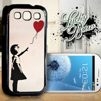 Samsung Galaxy S3 Hard Case - Banksy Girl WIth Balloon Art  - Indian Phone Cover