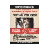 Wedding Event Poster-Style Photo Invitation from Zazzle.com