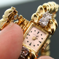Vintaqe Laykin & Co. Yellow Gold and Diamond Ladies Watch