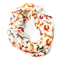 Foxes in Autumn Infinity Scarf