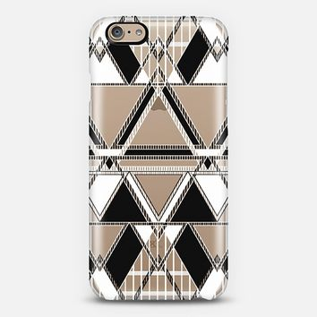 Black and White Linear Tribal iPhone 6 case by Organic Saturation | Casetify