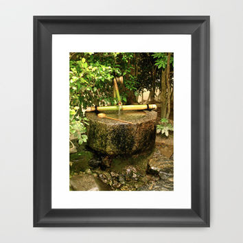 Wash Your Hands, Please Framed Art Print by Casey J. Newman