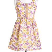 Floral Hook & Eye Dress